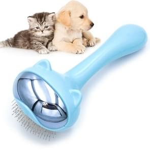 Pet Space Cat Comb Grooming Needle Kammen Hond Ontharing Borstel (Blauw)