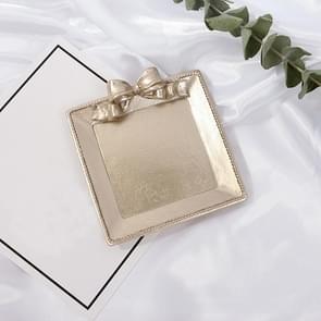 Vintage Hars gemaakt oude sieraden oorbellen lade decoratieve ornamenten foto rekwisieten  stijl: Vierkant (Champagne Gold)