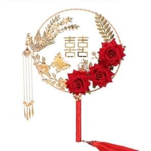 Wedding Supplies Ancient Style Bruidsronde Fan Klassieke Zijde Holding Bloemen Fan Fotografie Holding Fan met Gift Box (Phoenix Dance)