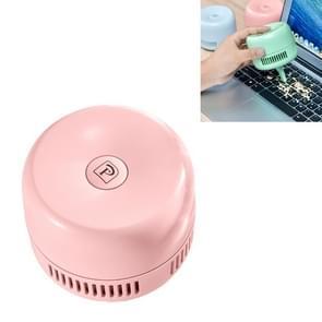 Draagbare Mini Stofzuiger Desktop Debris Cleaning Student Opladen Wireless Handheld Keyboard Cleaner (Roze)