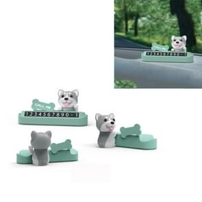 Tijdelijke Stop Sign Creative Cute Number Moving Number Plate Car Decoratie  Kleur: Husky Maca Green