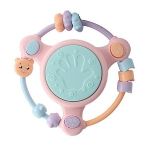 Baby Music Hand Drum Multi-functie Early Education Puzzel Rattle Toy (Pink)