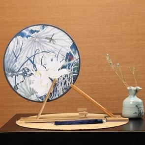 Retro Style Hanfu Group Fan Beech Wood Handle Klassieke Dans Fan (Petal Lotus hier)