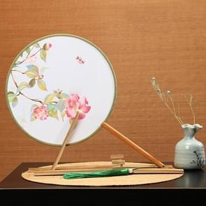 Retro Style Hanfu Group Fan Beech Wood Handle Klassieke Dans Fan (Lente Glinsterende)