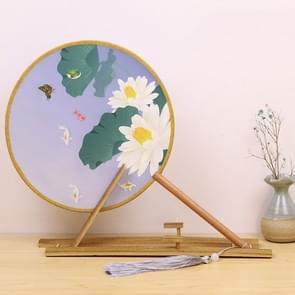 Retro Style Hanfu Group Fan Beech Wood Handle Klassieke Dans Fan (Fish Leaf)