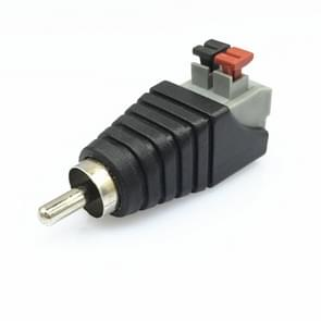 20 PCS RCA Lotus Audio Connector Druk op Type RCA Male Head Solder-free AV Lotus Head Button(Black)