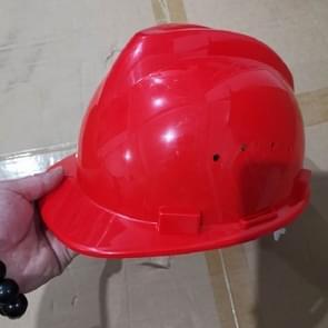 Bouwplaats Ademende Helm zonder Voorruit (Rood)