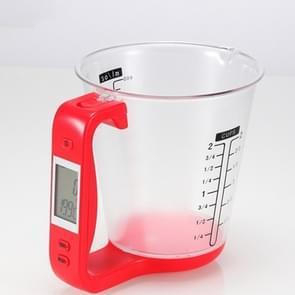 1000g / 1g Keuken Elektronische Weegschaal Elektronische Maatbeker Bakken DIY Meetinstrument (Rood)