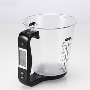 1000g / 1g Keuken Elektronische Weegschaal Elektronische Maatbeker Bakken DIY Meetinstrument (Zwart)