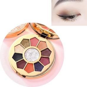Bright Streamer Pearl Eyeshadow Palet Matte Net Red Sequin Eyeshadow Make-up (2 # Jin Si Qing Yu)