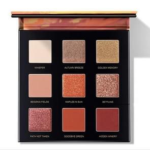 Negen kleur Eye Shadow Disc Matte Pearlescent Pen Sunset Eye Shadow Disc Lazy Girl Make-up Producten (1 # Setting Zon)