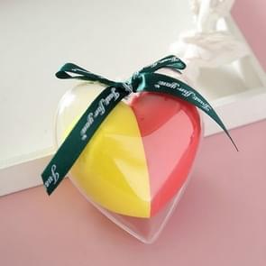 8 PCS Hydrophilic Wet And Dry Heart-shaped Non-latex Beauty Egg Set (Rode en gele set)