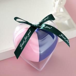 8 PCS Hydrophilic Wet And Dry Heart-shaped Non-latex Beauty Egg Set (Roze en blauwe set)