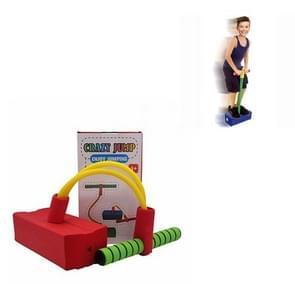Kinderen Kikker Jumping Toy Sound Bounce Schoenen Flash Jump Kleuterschool Outdoor Sports Sense Training Jump Bar (Rood)