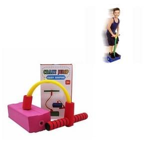 Kinderen Kikker Jumping Toy Sound Bounce Schoenen Flash Jump Kleuterschool Outdoor Sports Sense Training Jump Bar (Roze)