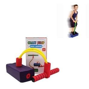 Kinderen Kikker Jumping Toy Sound Bounce Schoenen Flash Jump Kleuterschool Outdoor Sports Sense Training Jump Bar (Paars)