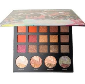 24 Color Student Hoogglans Oogschaduw Matte Pearlescent Relief Eye Shadow Tray(24 Color Highlight Oogschaduw)