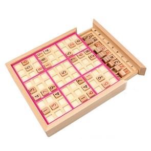Sudoku Nine Square Grid Game Board Kinderen Logisch denken Puzzel bordspel (Roze)
