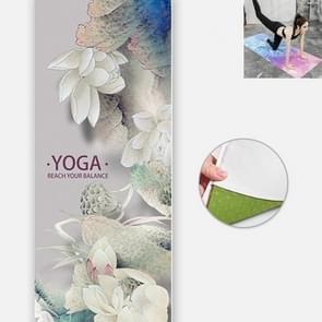 Yoga Mat Indoor Fitness Oefening Mat Ultra Dunne Non Slip Zweetabsorberend vouwen draagbare mat  grootte: 183 x 65cm (Lotus Leaf zonder colloïdale deeltjes)