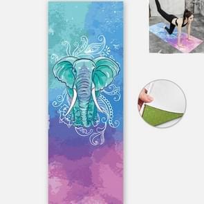 Yoga Mat Indoor Fitness Oefening Mat Ultra Dunne Non Slip Zweetabsorberend vouwen draagbare mat  grootte: 183 x 65cm (Olifant zonder colloïdale deeltjes)