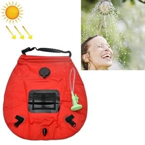 20L Solar Bath Bag Outdoor Self Driving Camping Hot Water Bottle Portable Outdoor Bad Water Storage Bag (Rood)