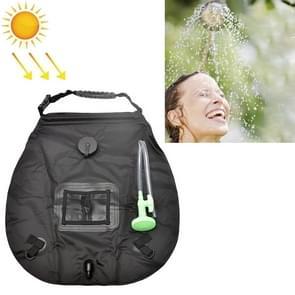 20L Solar Bath Bag Outdoor Self Driving Camping Hot Water Bottle Portable Outdoor Bad Water Storage Bag (Zwart)