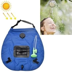 20L Solar Bath Bag Outdoor Self Driving Camping Hot Water Bottle Portable Outdoor Bad Water Storage Bag (Blauw)