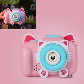 Kinderen Automatische Cat Camera Bubble Machine Electric Toy (Roze)