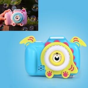 Kinderen Automatische Cat Camera Bubble Machine Electric Speelgoed (Blauw)