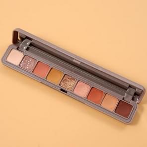 2 PCS 9-kleuren Eye Shadow Disc Matte Pearlescent Glitter Waterdicht en zweetbestendig student vingertop oogschaduw (3D Meisje 1)