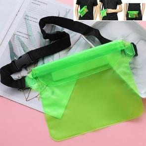 5 PCS Drie-laags verzegelde PVC Waterdichte taille zak Drifting Waterdichte Zak (Groen)