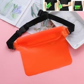 5 PCS Drie-laags verzegelde PVC Waterdichte taille zak Drifting Waterdichte Zak (Oranje)