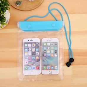 10 PCS grote mobiele telefoon transparante waterdichte cover touch screen oplaadbare mobiele telefoon waterdichte tas (willekeurige kleur)