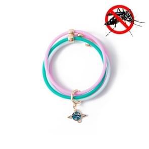 5 PCS Zomer Kinderen Mosquito Insectenwerend middel armband anti-mug armband (Blauw)