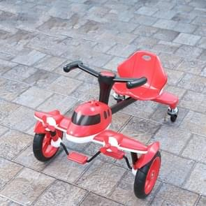 Childrens Pedal Drifting Car Small Plane Driewielige Kids Four-wheeled Bicycle (Rood)