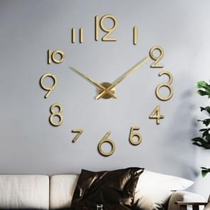 Creatieve DIY Acryl Klok Home Digital Wall Clock (Goud)