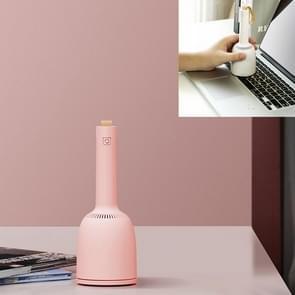 Mini Portable Desktop Stofzuiger Huishoudelijke Reinigingsmachine Computer Keyboard Dust Remover (Roze)