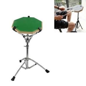 Dumb Drum Pad Set 12 Inch Drum Set Mute Practice Pad Met Stand (Groen)
