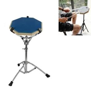Dumb Drum Pad Set 12 Inch Drum Set Mute Practice Pad With Stand(Blue)
