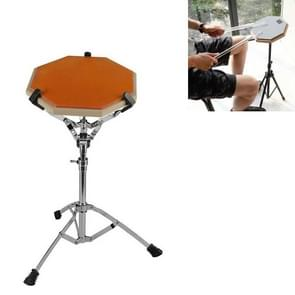 Dumb Drum Pad Set 12 Inch Drum Set Mute Practice Pad Met Stand (Oranje)