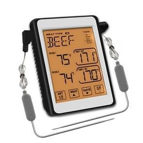 CH-212 Dual Probe Color Screen Smart Alarm Grill Keuken Thermometer  Kleur: Oranje Tegenlicht