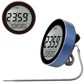3 in 1 Kamertemperatuurmeting + Sonde Voedselmeting + Countdown Functie Multifunctionele Thermometer(Blauw)