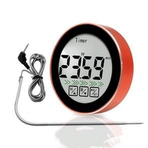 3 in 1 Kamertemperatuurmeting + Sonde Voedselmeting + Countdown Functie Multifunctionele Thermometer(Rood)