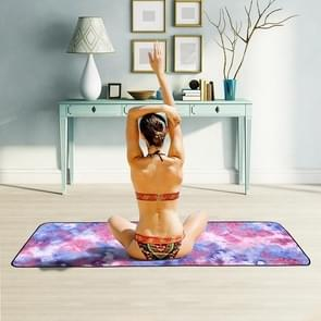 Microfiber Eco-vriendelijke Anti-slip handdoek opvouwbare Yoga Mat Sport Laken  Grootte: 183 x 63cm (Paars)