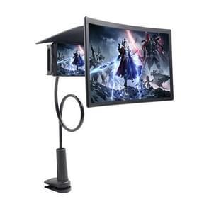 L7 Lazy Bedside Stand 12 inch Mobile Phone Screen Vergrootglas  ondersteunt mobiele telefoons binnen 6 6 inch (Zwart)