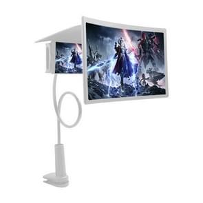 L7 Lazy Bedside Stand 12 inch Mobile Phone Screen Vergrootglas  ondersteunt mobiele telefoons binnen 6 6 inch (wit)