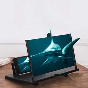 Uittreksing mobiele telefoon scherm vergrootglas 3D Video Desktop Mobiele Telefoon Houder  Grootte: 12 inch (Zwart)