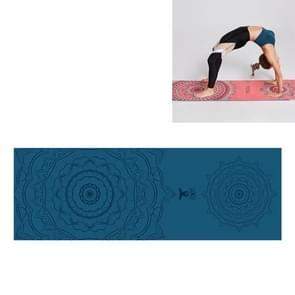 Draagbare gedrukte non-slip milieubescherming Yoga Mat Laken  Grootte: 185 x 63cm (Tibetaanse Groene Lotus)