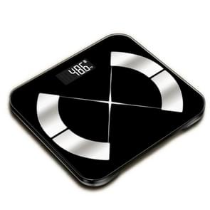 BT952 Black Bluetooth Home Electronic Weight Scale Support APP & 16 Talen  Grootte: 29x26cm