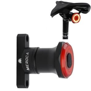 MEROCA MX2 Smart Sensor Rem achterlicht Mountainbike Licht USB opladen Road Bike Night Riding Tail Light  kleur: stoelkussen installatie Zwart